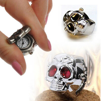 Hot Fashion Character Vintage Retro Skull Finger Ring Quartz Dial Watchs Gift