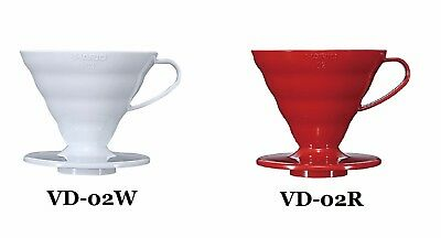 Hario V60 02 Coffee Dripper WHITE VD-02W RED VD-02R 2 colors Japan