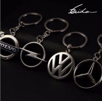 Car Logos Fashion Titanium Key Chain Car Keychain Ring Keyfob Metal Keyrings
