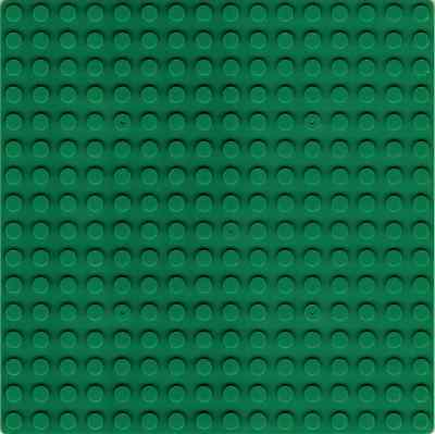 Building Board - Green Base Plate 16X16 Studs Baseplate Compatible For Lego