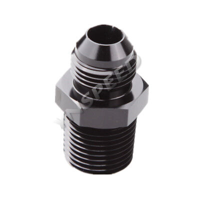 10AN AN-10 Male To 1/2'' NPT Straight Flare To Pipe Thread Fitting Adapter Black