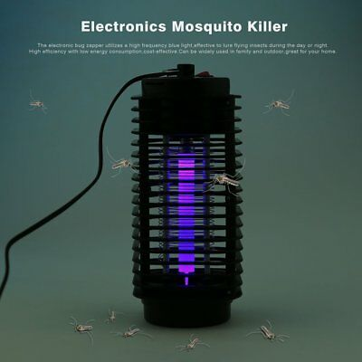 110V/220V Electric Mosquito Fly Bug Insect Zapper Killer With Trap Lamp Black FY