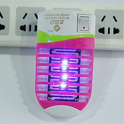 Mini LED Socket Mosquito Fly Bug Insect Trap Night Lamp Killer Zapper FY