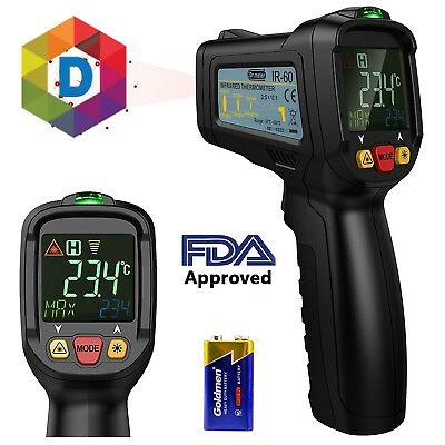 Infrared Non-Contact Laser Thermometer for Kitchen Cooking BBQ Automotive