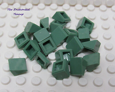 New Lego 20 x Rare Sand Green Slope Curved 2 x 2