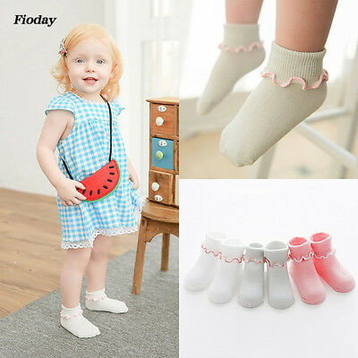 3 Pairs Kawaii Flower Macrame Princess Socks Kid's Girls Soft Cotton Ankle Socks