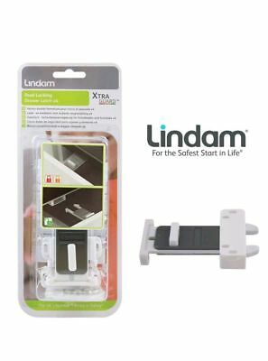 4x LINDAM XTRA GUARD DUAL LOCKING DRAWER LATCH,KITCHEN AND BATHROOM,BABYPROOF