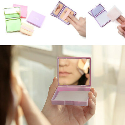 80Sheets Oil absorbing sheets Blotting paper Portable Oil control With puff