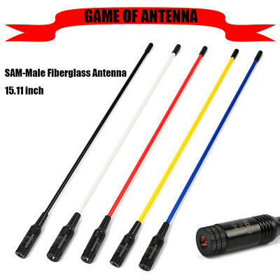 SMA-M UHF VHF Antenna sma male For HAM Amateur Radio Kenwood ICOM Fiberglass