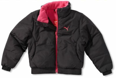 Puma Girls Black Jacket. Girls Winter Coat. Puma Warm Winter Coat/ Jacket