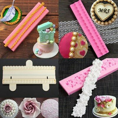 Pearl Beads String Silicone Fondant Mold Cake Decoration Sugarcraft Baking Mould
