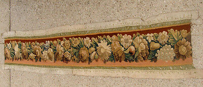 A Splendid 77 Inches Long Tapestry Border With Fruits