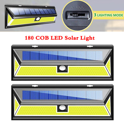 62 LED Solar Power Motion Sensor Light Outdoor Garden Security Light Bright Lamp