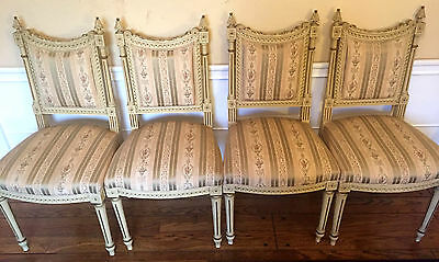 A Set of Four Antique French Chairs