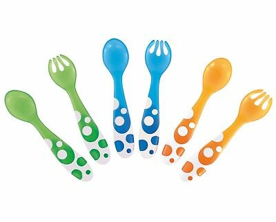 Munchkin ~Toddler Funky Colourful Cutlery - Spoons & Forks Warehouse