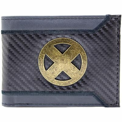 New Official X-Men Suit Up Gold X Badge Grey Id & Card Bi-Fold Wallet