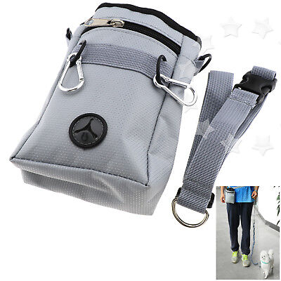 Pet Dog Training Treat Snack Bait Obedience Agility Outdoor Pouch Food Bag Grey