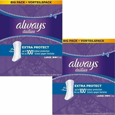 Always Dailies Panty Liners Large Extra Protection Odour Neutralising - 104 Pack