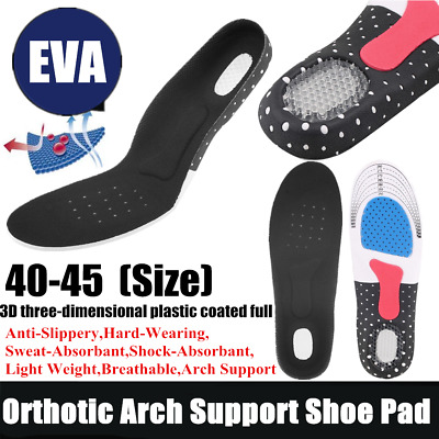 Unisex Orthotic Arch Support Shoe Pad Sport Running Gel Insoles Insert CO
