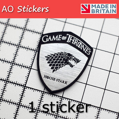 Game of Thrones 1x  METALIC HQ sticker House Stark #B LIMITED EDITION