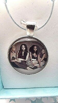 LITTLE MIX SUMMER TOUR  NECKLACE DANCE POP MUSIC GIFT BOXED 22 INCH SILVER CHAIN