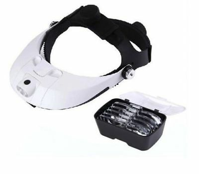 LED Headlamp Magnifying Glass with Light  Illuminated Head Dental Surgical Loupe