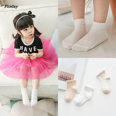 3 Pairs Lovely Cute Lace Flower Baby Girls Socks Kids Anti-slip Short Socks
