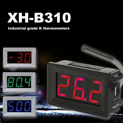 Digital Thermometer LED Display K-Type Industrial -30~800