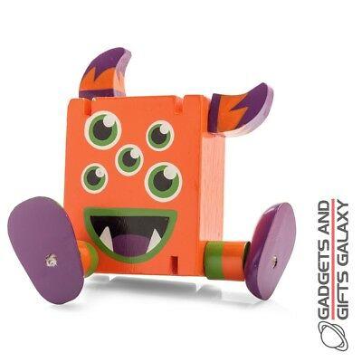 WOODEN FLEXI MONSTER FIGURE stress relief fiddle autism toy gift novelty childs