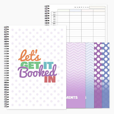 Appointments Book. A4 3 or 4 column agenda for hairdresser, salon, spa, nails
