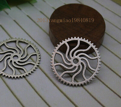 15/45pcs 25mm Antique  Lovely Filigree Gear Charms The connector pendant