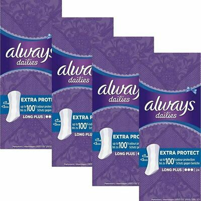 Always Dailies Panty Liners Long Plug Extra Protect Odour Neutralise, Pack of 96