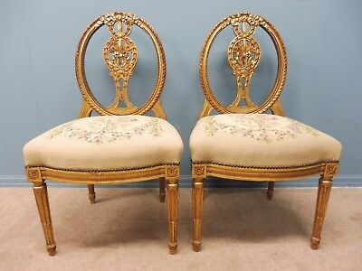 A  Pair Of Original Antique French 19Th Century Chairs
