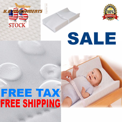 Changing Table Pad Baby Portable Diaper Summer Infant Contured Nursery WHITE