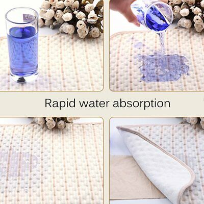 Stripe Organic Cotton Waterproof Layer Baby Changing Urine Pad Bed Sheets XR ON