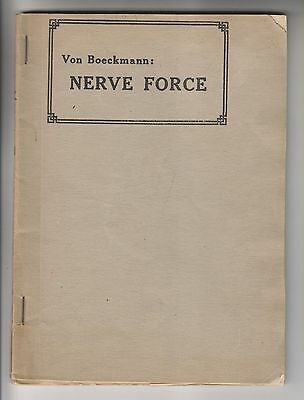1918 Booklet - Nerve Force - By Paul Von Boeckmann