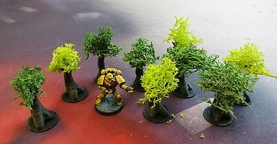 *SCENERY* Nine (9) 10mm scale trees, Dropzone Commander