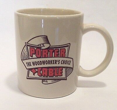 """New PORTER+CABLE """"THE WOODWORKER'S CHOICE"""" 10 oz. Coffee, Tea or Soup Mug / Cup"""