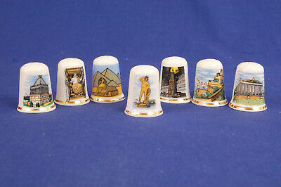 Seven Wonders of The World Set of 7 Thimbles B/106