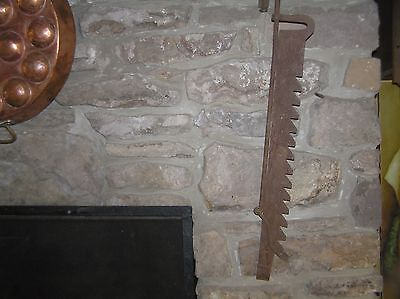 "Antique Fireplace Trammel Primitive Sawtooth  60"" long"
