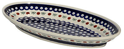 Polish Pottery Large Oval Platter From Zaklady Boleslawiec 1104/41