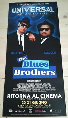 THE BLUES BROTHERS  Locandina Cinema 33x70 Poster Film Originale Nexo