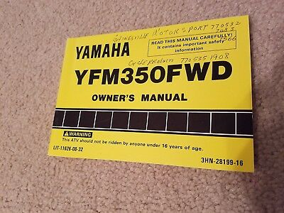 Yamaha ATV YFM350FWD Owner's Manual L@@K