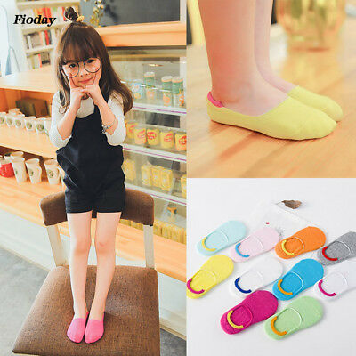 Children Kawaii Candy Color Ankle Socks Kids Soft Cotton Invisible Short Socks