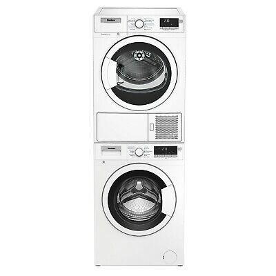 """Blomberg WM98200SX 24"""" Compact Front Load Washer and DHP24400W Ventless Dryer Co"""