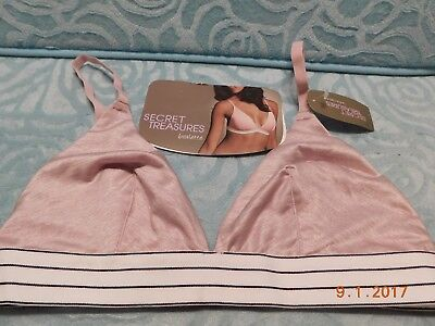907ab01c631bf9 Secret Treasures Intimates Triangle Heather Bralette Bra Size Small  Wirefree NWT