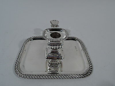 Victorian Chamberstick - Antique Candlestick - English Sterling Silver - 1894