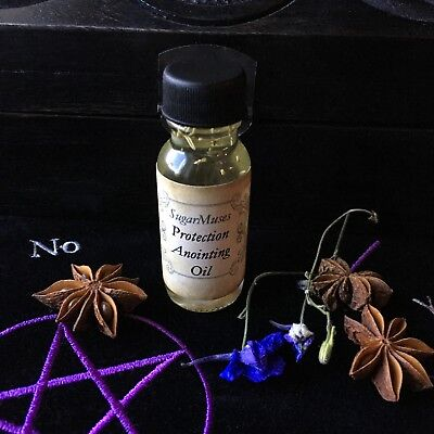 Protection Oil 1/2 oz. Pagan Wiccan Wicca Witch Goddess Shaman Organic