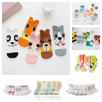 5 Pairs Socks Kids Boys Girls Cotton Childrens School Ankle Lot Mix Character
