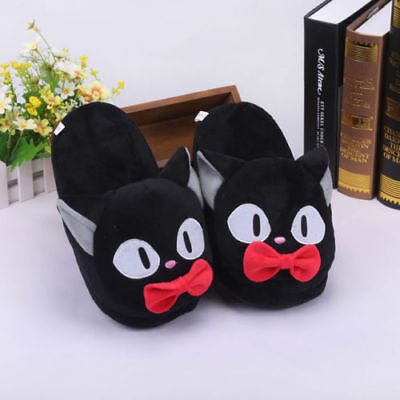 Ghibli Kiki's Delivery Service Jiji Cat Soft Plush Stuffed Slippers Cotton Shoes